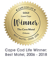 Best Motel Award 2006-2018, The Cove Motel in Orleans, MA on Cape Cod
